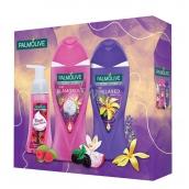 Palmolive Glamours + Relax sprchový gel 2 x 250 ml + pěnové tekuté mýdlo, kosmetická sada