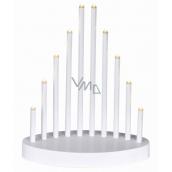 Emos Osvetlenie svietnik biela pyramída 20 x 24,5 cm, 10 LED, teplá biela