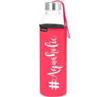 Nekupto Neplastuj Sklenená fľaša na pitie Aquaholic 500 ml