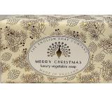 English Soap Vintage Merry Christmas prírodné parfumované toaletné mydlo s bambuckým maslom 190 g