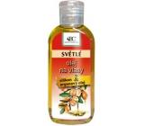 Bione Cosmetics Bio Arganový olej se silikonem na světlé vlasy 80 ml