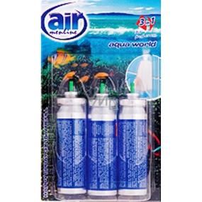 Air menłinu Aqua World Happy Osviežovač vzduchu náhradné náplne 3 x 15 ml sprej
