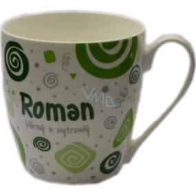 Nekupto Twister hrnek se jménem Roman zelený 0,4 litru