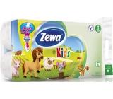Zewa Kids Aqua Tube toaletný papier 3 vrstvový 150 útržkov 8 kusov, rolička, ktorú môžete spláchnuť