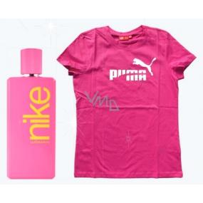 Nike Pink Woman toaletná voda 100 ml + tričko Puma, darčeková sada