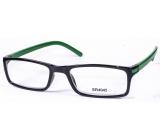 Berkeley Čítacie dioptrické okuliare +3,5 čierne zelené stranice 1 kus MC2 ER4045