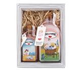 Bohemia Gifts & Cosmetics Kúzlo domova - ruža šípky sprchový gél 250 ml + soľ do vody 110 g kozmetická sada