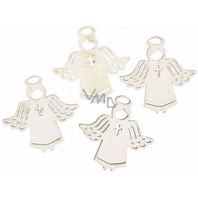 Anjel drevený biely 3,5 cm 12 kusov