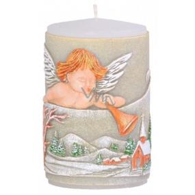 Candle Anjel s trumpetu vonná sviečka valec 60 x 100 mm