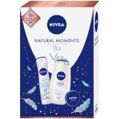 Nivea Natural Moments Creme Soft sprchový gel 250 ml + Fresh Natural deodorant sprej pro ženy 150 ml + krém 30 ml, kosmetická sada