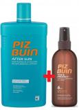 Piz Buin Tan & Protect SPF6 ochranný olej urýchľujúci proces opaľovanie 150 ml sprej + After Sun Soothing & Cooling mlieko po opaľovaní s aloe vera, hydratuje a chladí, redukuje začervenanie spôsobené UV žiarením 400 ml, duopack