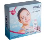 Astrid Aqua Biotic denný a nočný krém pre suchú a citlivú pleť 50 ml + 3v1 micelárna voda 400 ml + Trendy edícia Perleťový lesk tónovací balzam na pery 4,8 g, kozmetická sada