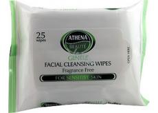 Athena Beauté Gentle Facial Cleansing Wipes Odličovacie vlhčené obrúsky 25 kusov