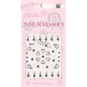 Nail Accessory 3D nálepky na nechty 1 aršík 10100 BG16