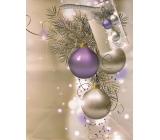 Anděl Taška vánoční dárková bílá,větvička,baňky M 23 x 18 x 10 cm