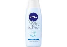 Nivea Aqua Effect 2v1 čisticí pleťové mléko a voda normální a smíšená 200 ml