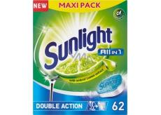 Sunlight All in 1 Lemon Tablety do myčky nádobí 62 kusů