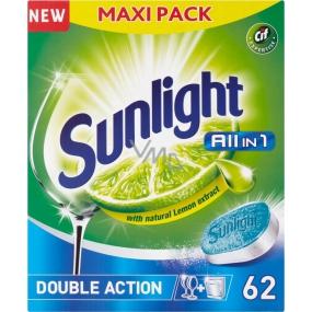 Sunlight All in 1 Lemon tablety do umývačky riadu 62 kusov
