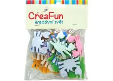 CreaFun Samolepiace dekorácie Krab mix farieb 4 x 3 cm 25 kusov