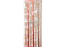 Zöllner Vánoční balicí papír Luxury Chris stromečky 1,5 m x 70 cm