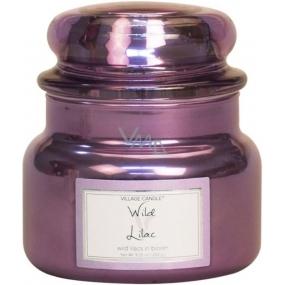 Village Candle Divoký orgován - Wild Lilac vonná sviečka v skle 2 knôty 262 g