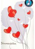 Albi Hracie želanie s efektom k svadbe Novomanželia v aute 14,8 x 21 cm