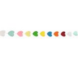 Girlanda papierová farebné lístočky 300 x 5 cm