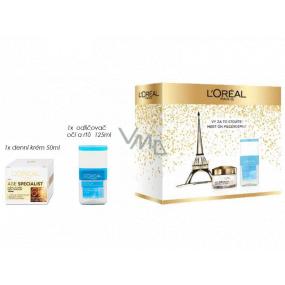 Loreal Paris Age Specialist 65+ denný krém proti vráskam 50 ml + dvojfázový odličovač na oči a pery 125 ml, kozmetická sada