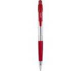 Spoko Guľôčkové pero priehľadné červené, červená náplň, 0,5 mm
