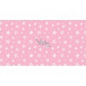 Apli Darčekový baliaci papier 70 x 200 cm Nordik Fun Pastel ružový - biele hviezdičky