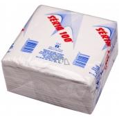 Séria 100 papierové obrúsky biele 1 vrstvové 33 x 33 cm 100 kusov
