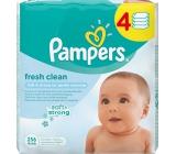 Pampers Fresh Clean vlhčené ubrousky pro děti 4 x 64 kusů