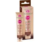 Dermacol Sun Cream & Lip Balm SPF 30 voděodolný pleťový krém na opalování 30 ml a balzám na rty 3,2 g