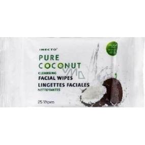 Inecto Pure Coconut čistiace pleťové obrúsky 25 kusov