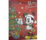 Nekupto Darčeková papierová taška najväčšie 46 x 33 x 10,5 cm Mickey Mouse vianočné 1191 WLGX