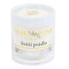 Heart & Home Svěží prádlo Sojová vonná svíčka bez obalu hoří až 15 hodin 53 g