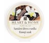 Heart & Home Santalové drevo a vanilka Sójový prírodné vonný vosk 27 g
