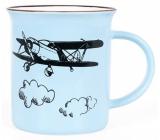 Albi Keramický plecháček Letadlo modrý 320 ml