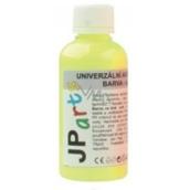 JP arts Univerzálna akrylová farba lesklá, svietiace v tme Neon žltá 50 g