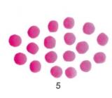 Bambuľky Ružové 2,5 cm 18 kusov