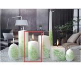 Lima Kvetinová sviečka zelená valec 50 x 100 mm 1 kus