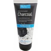 Beauty Formulas Charcoal Facial Scrub peeling s aktivním uhlím na obličej a krk 150 ml