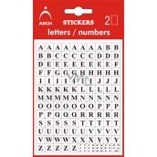 Arch Samolepiace písmená AZ v blistri + bonus, výška 5 mm 2 archy