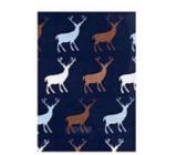Ditipo Darčekový baliaci papier 70 x 200 cm Vianočný tmavo fialový sa soby