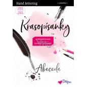 Ditipo Krasopísanky Moderné krasopis Hand lettering abeceda na precvičovanie 32 strán 7195001