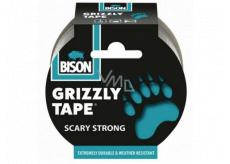 Bison Grizzly Tape lepiaca páska opravná strieborná, šírka pásky: 50 mm s návinom o dĺžke 10 m