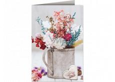 Nekupto Prianie k narodeninám Kvety pre šťastie 115 x 170 mm 3614 J