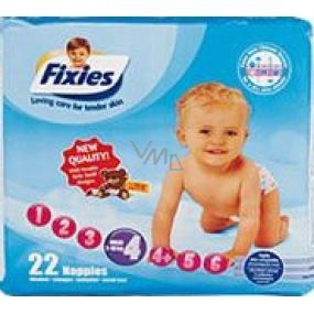 Fixies Active Life 4 Maxi 7 - 18 kg plienkové nohavičky 22 kusov