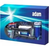 Adam Pěna na holení 200 ml + balzám po holení 150 ml + deodorant spray 150 ml + 2 x holící strojek, kosmetická sada