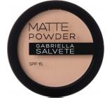Gabriella salva Matte Powder SPF15 púder 02 Beige 8 g
